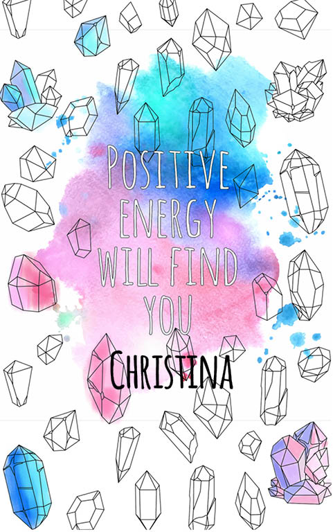anti stress adult coloring personalized with name Christina best friend gift idea