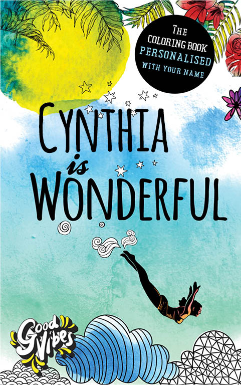 Cynthia is wonderful personalized coloring book gift for her best friend or mother