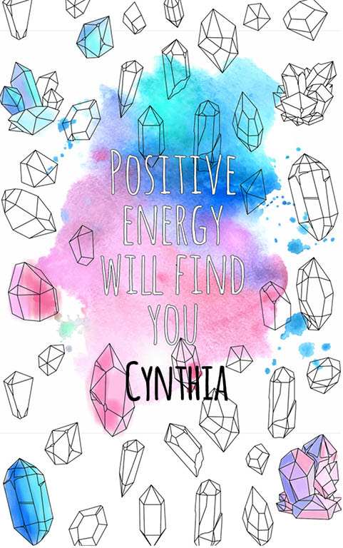 anti stress adult coloring personalized with name Cynthia best friend gift idea