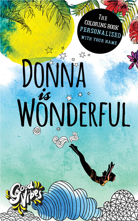 Donna is wonderful personalized coloring book gift for her best friend or mother