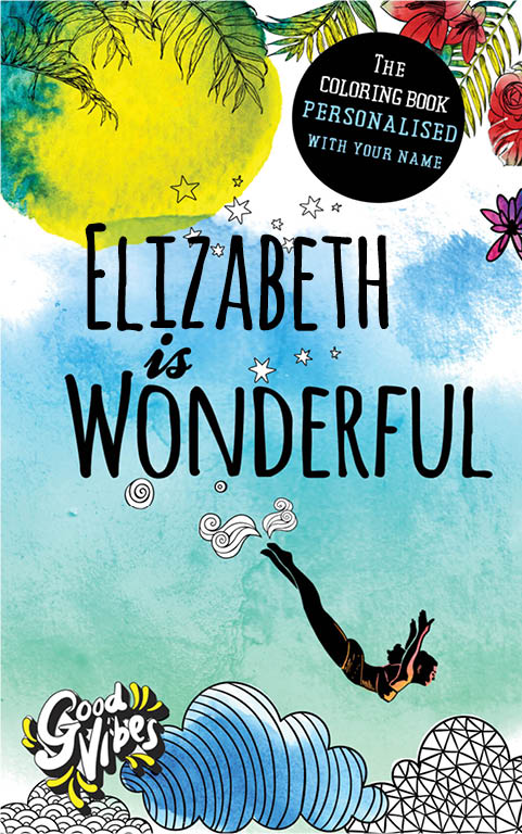 Elizabeth is wonderful personalized coloring book gift for her best friend or mother