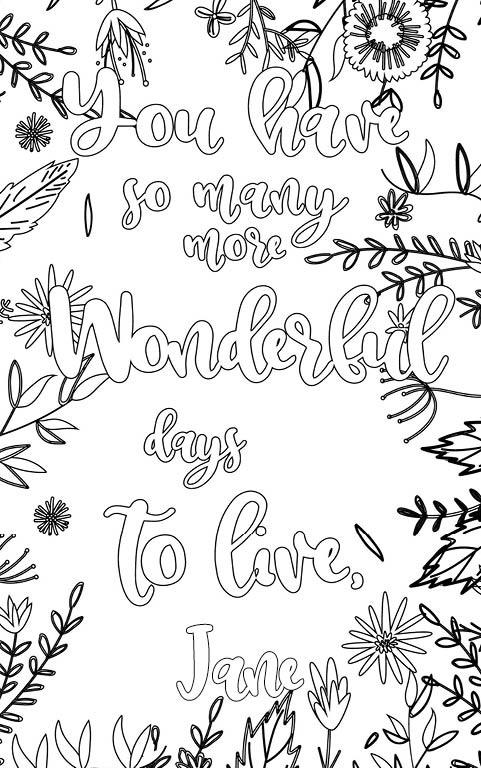 anti stress adult coloring personalized with name Jane gift