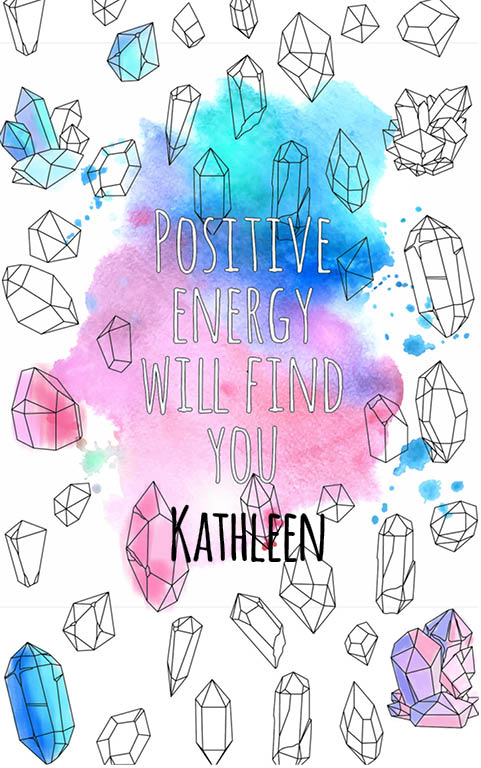 anti stress adult coloring personalized with name Kathleen best friend gift idea
