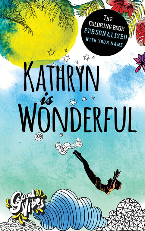 Kathryn is wonderful personalized coloring book gift for her best friend or mother