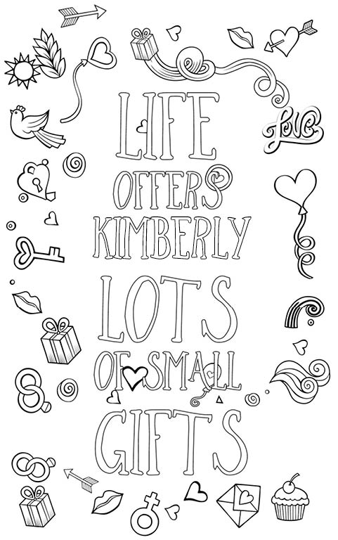 jessica name coloring pages | Kimberly is wonderful. The coloringbook personalised with ...