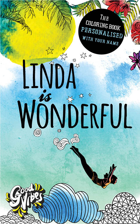 Linda is wonderful personalized coloring book gift for her best friend or mother