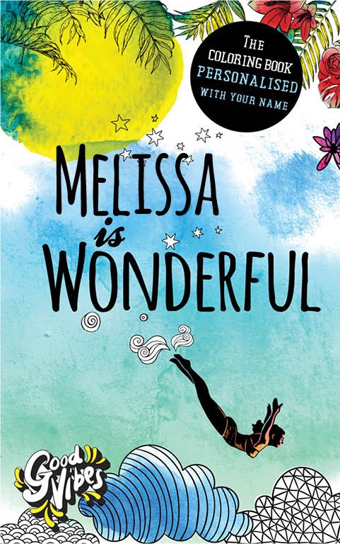Melissa is wonderful personalized coloring book gift for her best friend or mother