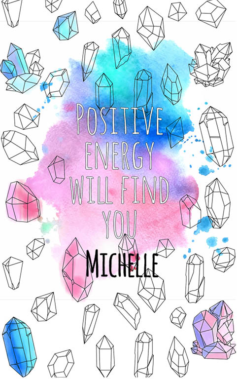 anti stress adult coloring personalized with name Michelle best friend gift idea
