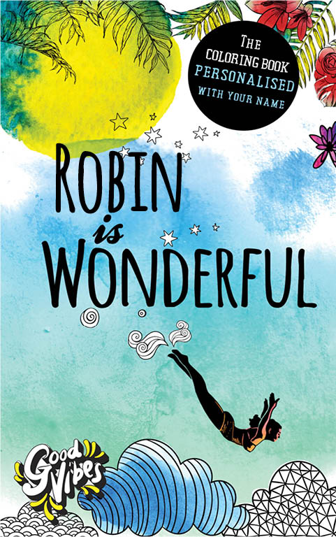 Robin is wonderful personalized coloring book gift for her best friend or mother