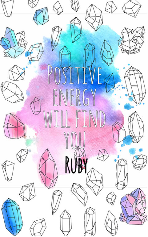 anti stress adult coloring personalized with name Ruby best friend gift idea