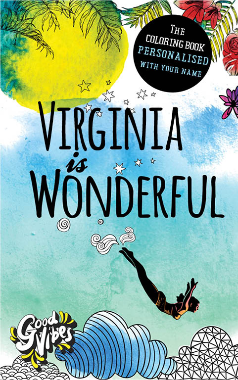 Virginia is wonderful personalized coloring book gift for her best friend or mother