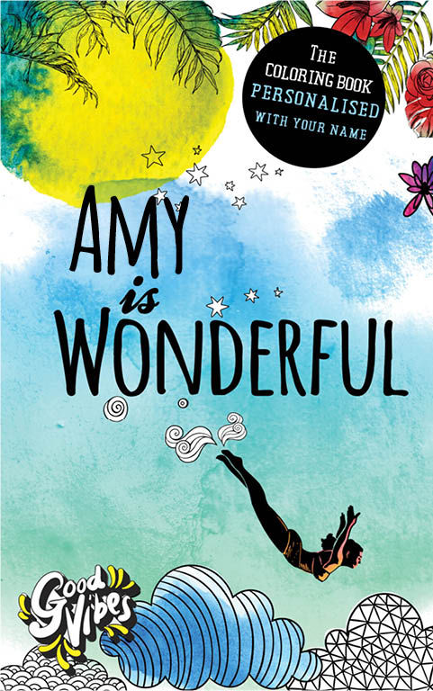 Amy is wonderful personalized coloring book gift for her best friend or mother