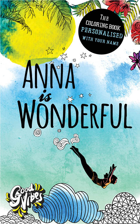 Anna is wonderful personalized coloring book gift for her best friend or mother