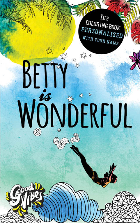 Betty is wonderful personalized coloring book gift for her best friend or mother