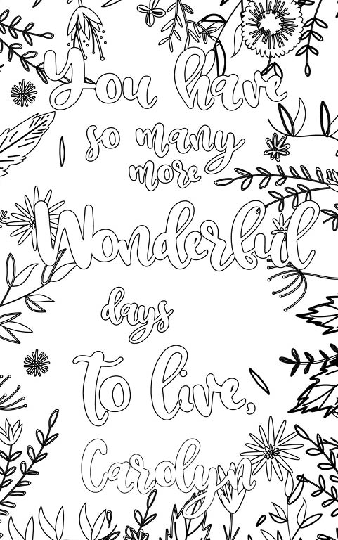 anti stress adult coloring personalized with name Carolyn gift