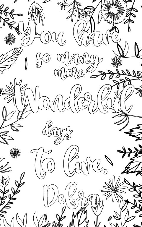 anti stress adult coloring personalized with name Debra gift