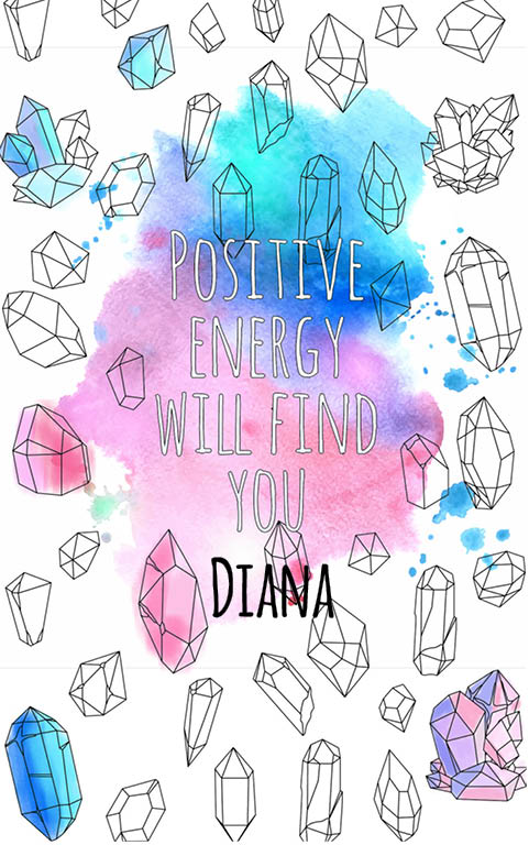 anti stress adult coloring personalized with name Diana best friend gift idea
