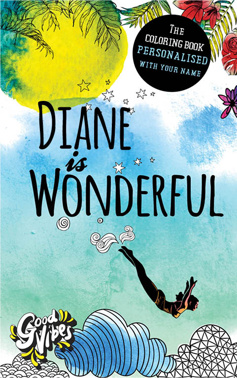 Diane is wonderful personalized coloring book gift for her best friend or mother