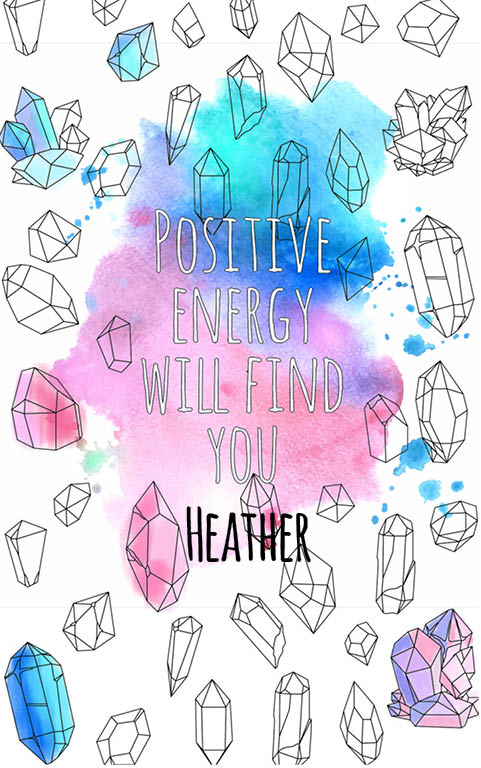 anti stress adult coloring personalized with name Heather best friend gift idea