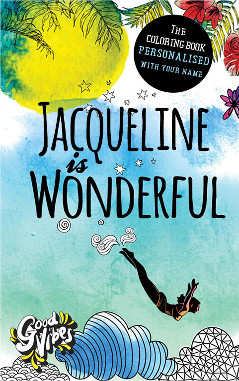 Jacqueline is wonderful personalized coloring book gift for her best friend or mother