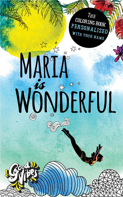 Maria is wonderful personalized coloring book gift for her best friend or mother