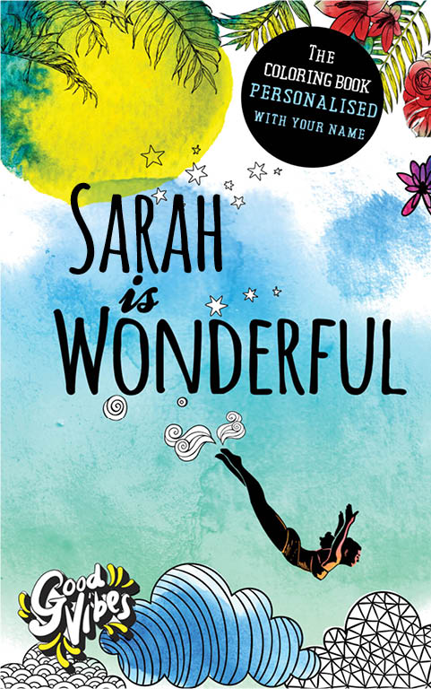 Sarah is wonderful personalized coloring book gift for her best friend or mother