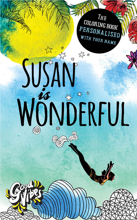 Susan is wonderful personalized coloring book gift for her best friend or mother