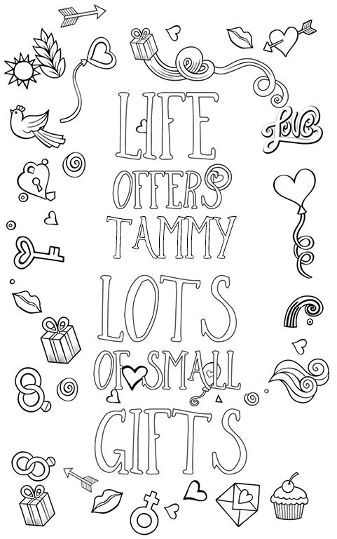 anti stress adult coloring personalized with name Tammy gift