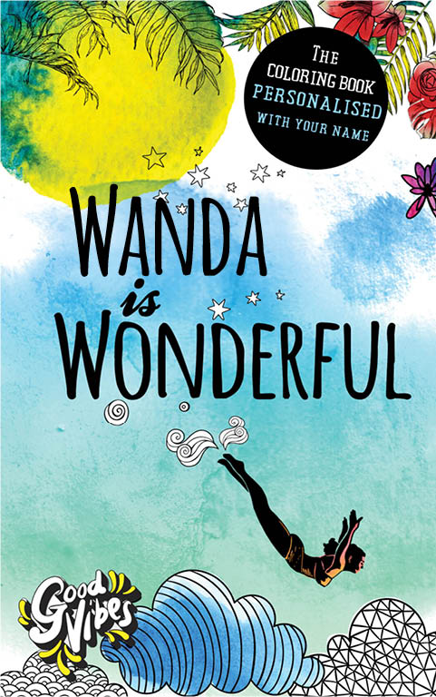 Wanda is wonderful personalized coloring book gift for her best friend or mother
